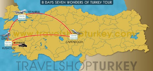 8 Days Seven Wonders Of Turkey Tour