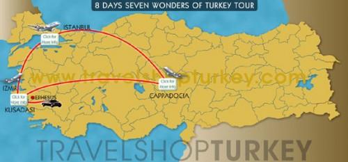 8 Days Seven Wonders Of Turkey Tour