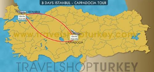 3 Days Istanbul - Cappadocia Tour