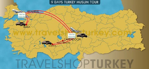 9 Days Turkey Muslim Tour