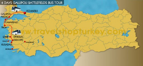 4 Days Gallipoli Battlefields Bus Tour